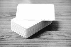 Стог стиля тона цвета визитной карточки черно-белого Стоковые Фото