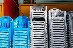 стог стулов пластичный Стоковая Фотография RF