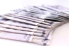 Стог счетов денег стоковое фото rf