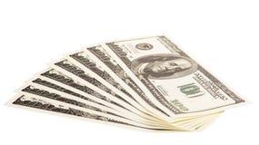 Стог 100 счетов доллара Стоковое Изображение