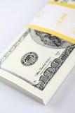 Стог $100 счетов стоковая фотография