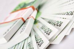 Стог счетов 100euro стоковые фото
