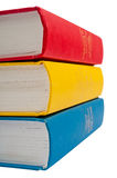 стог съемки крупного плана книг Стоковое Изображение RF