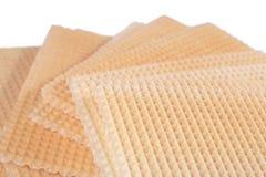 Стог сладостных waffles на белизне Стоковая Фотография