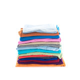 Стог сложенных одежд хлопка стоковое изображение rf
