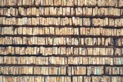 Стог текстуры деревянных журналов для предпосылки Стоковые Фото
