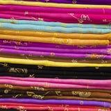 стог ткани цветастый silk Стоковая Фотография RF