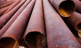 Стог труб металла Стоковое Изображение