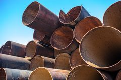 Стог труб металла Стоковое Фото