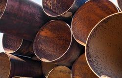 Стог труб металла Стоковые Изображения