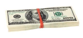 Стог 10 тысяч куч доллара Стоковое Фото