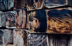 Стог фото предпосылки деревянных квадратных объектов уникального стоковое изображение rf