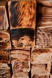 Стог фото предпосылки деревянных квадратных объектов уникального стоковые фото