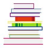 Стог цветастых книг также вектор иллюстрации притяжки corel Стоковые Изображения RF