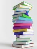 Стог цветастых книг Стоковая Фотография