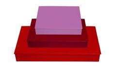 Стог цветастых коробок Стоковые Фото