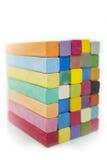 Стог цветов разнообразия пастели мела Стоковая Фотография RF