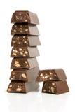 стог частей шоколада стоковая фотография rf