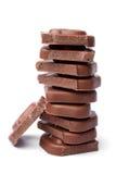 Стог частей шоколада стоковое фото rf