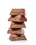 Стог частей шоколада Стоковое Изображение