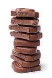 Стог частей шоколада стоковая фотография