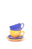 Стог 2 чашек стоковые изображения