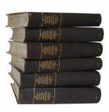 стог черных книг старый Стоковые Фотографии RF