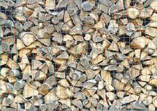 Стог швырка для печи плиты в зиме, текстуре, backgrou Стоковая Фотография