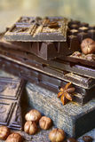 Стог штанг шоколада Стоковые Изображения