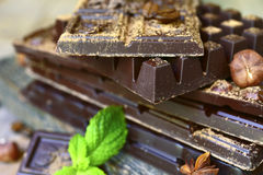 Стог штанг шоколада Стоковое Изображение
