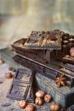 Стог штанг шоколада Стоковое фото RF