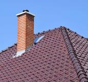Стог дыма на крыше Стоковые Изображения