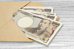 Стог японских иен валюты Стоковое фото RF