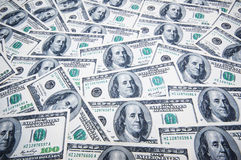 Стог долларов на деньгах Стоковое Изображение RF