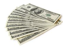 стог 100 валют Стоковое Изображение