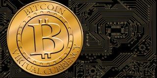 Стог bitcoins Стоковое фото RF