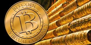 Стог bitcoins Стоковое Фото