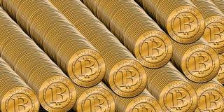 Стог bitcoins Стоковые Фото