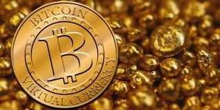 Стог bitcoins Стоковое Изображение