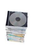 стог dvds cds Стоковое Изображение RF