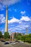Стог Ndustrial на заводе никеля Стоковые Изображения RF