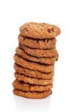 стог oatmeal печений шоколада обломока Стоковое Изображение