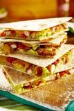 Стог quesadillas гуакамоле свинины Стоковые Изображения