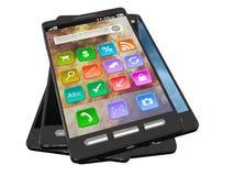 стог smartphones Стоковая Фотография