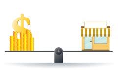 Стоимость бизнеса Стоковое Изображение