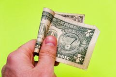 стоит доллар одно Стоковая Фотография