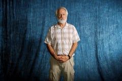 Стоический старший человек Стоковая Фотография RF