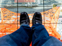 Стойка в башне токио Стоковая Фотография RF