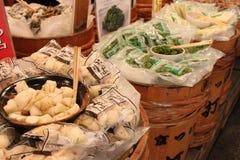 Стойка в рынке Nishiki - Киото Стоковые Фотографии RF