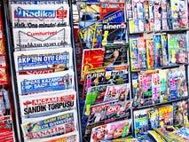 стойка газеты Стоковые Фотографии RF